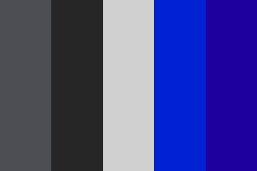 Gray And Blue Color Palette