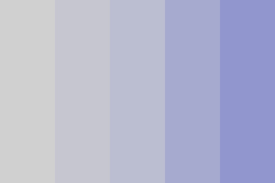 Gray To Blue Color Palette