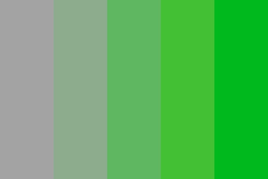 Gray To Green Gradient Color Palette