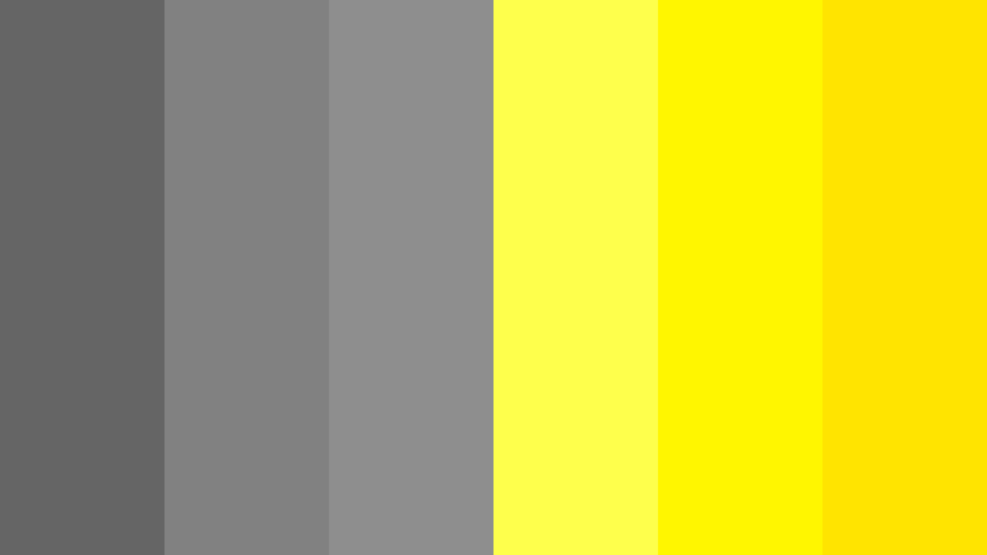 Gray With Bright Yellow Color Palette