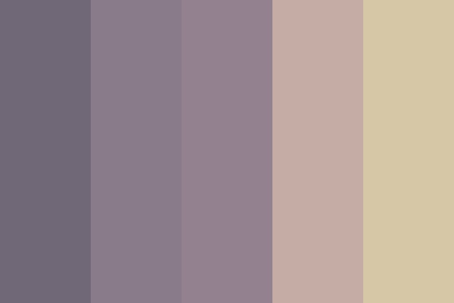 Gray ish Sunset Color Palette