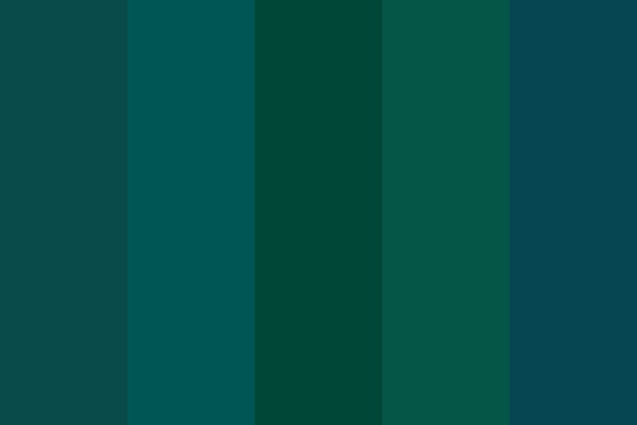 Greeennns And Blues Color Palette