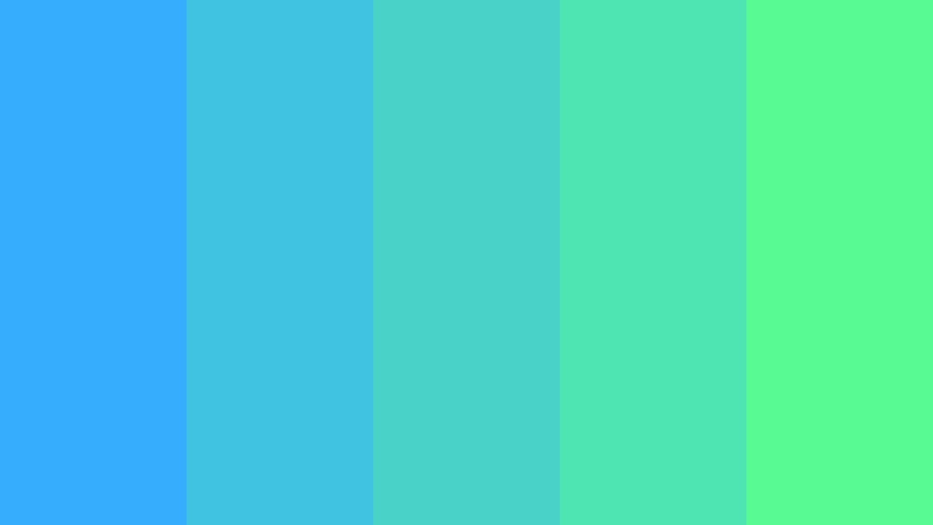 Green And Blue Minded Color Palette