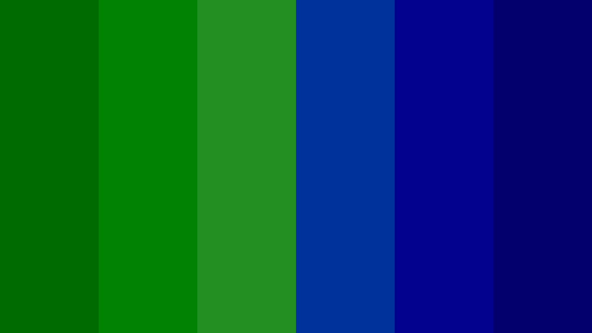 Green And Dark Blue Color Palette