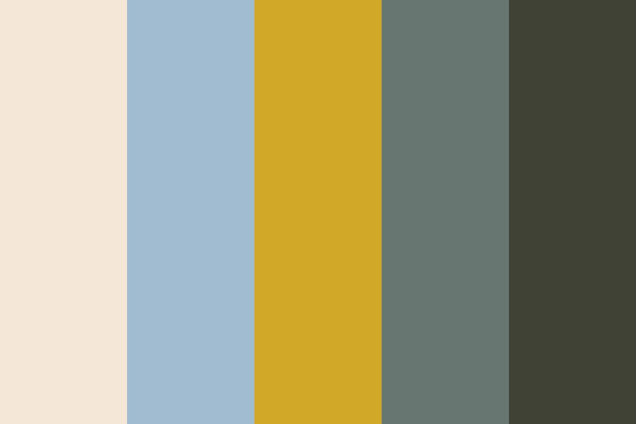 Green And Gold Color Palette