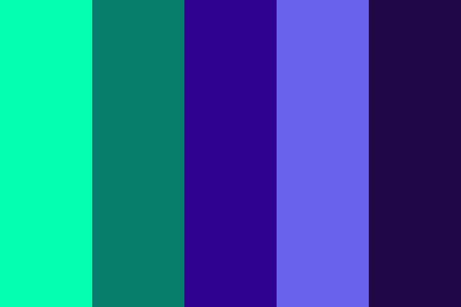 Green And Indigo Clouds Color Palette