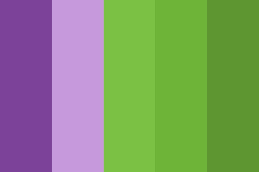 Green And Purple Color Palette