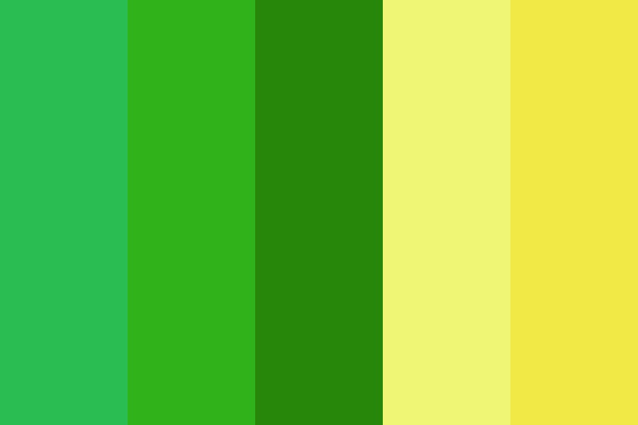 Green And Yellow Day Color Palette
