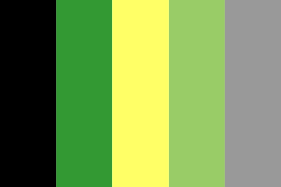 Green Aromantic Flag Color Palette