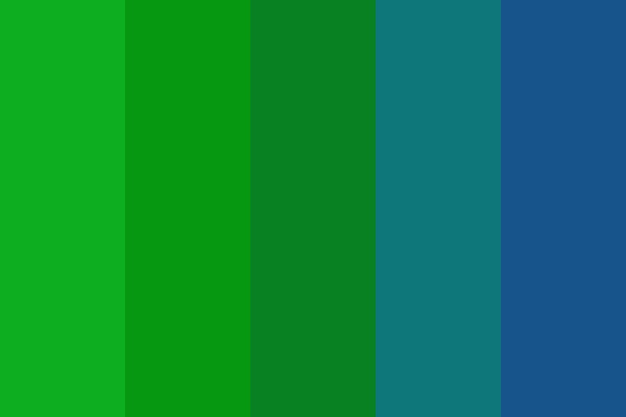 Green Corruption Color Palette