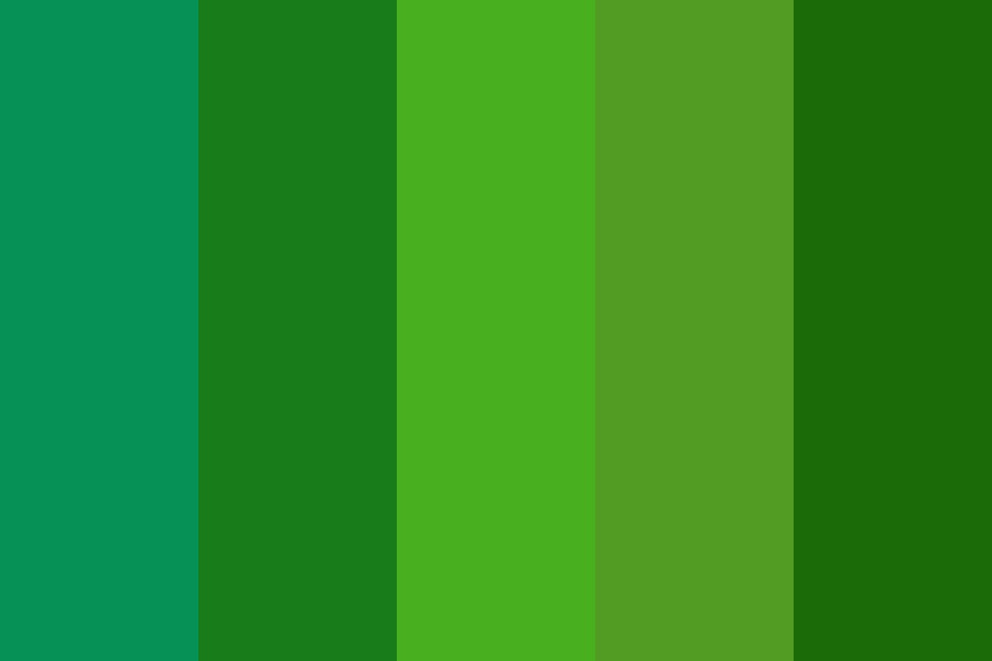 Green Deep Day Color Palette