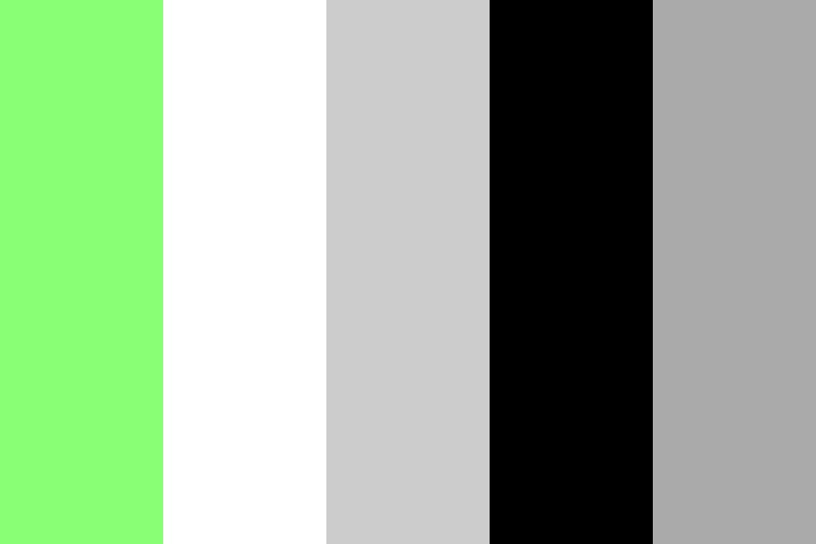 Green Gray Black Color Palette