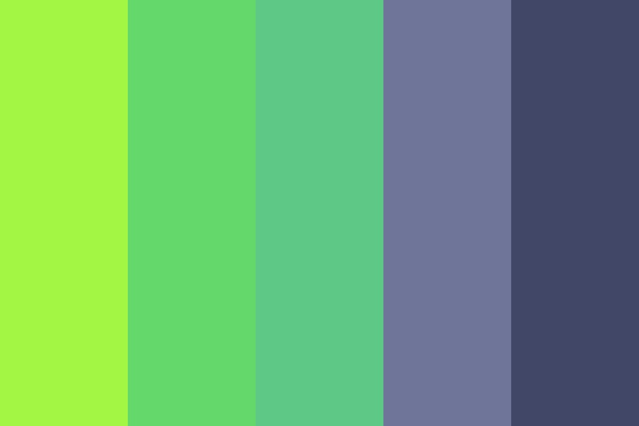 Green Matrix Color Palette