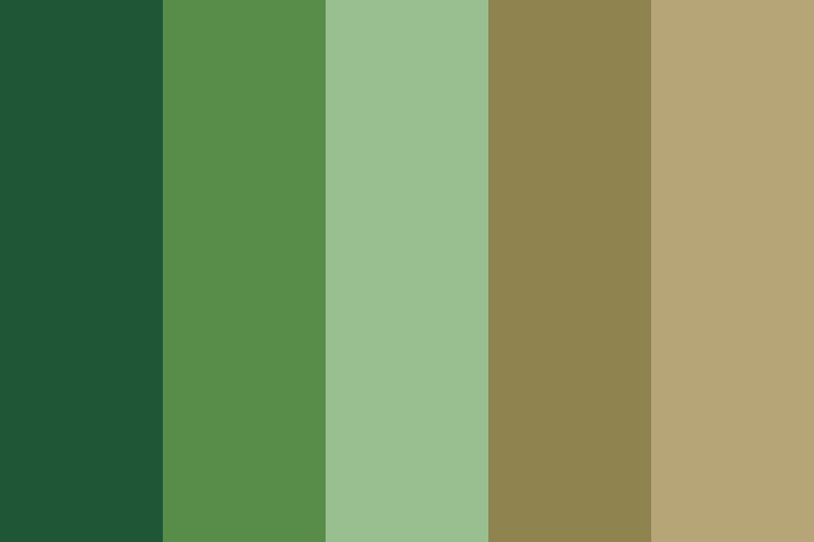 Green Pine Forest Color Palette