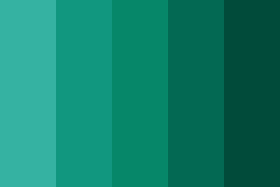 Green Sea Foam Color Palette