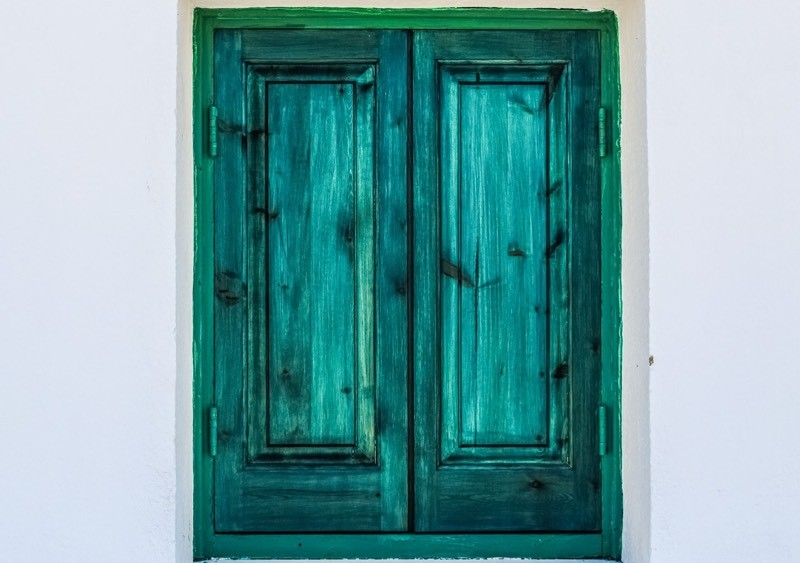 Green Shutter Window Color Palette