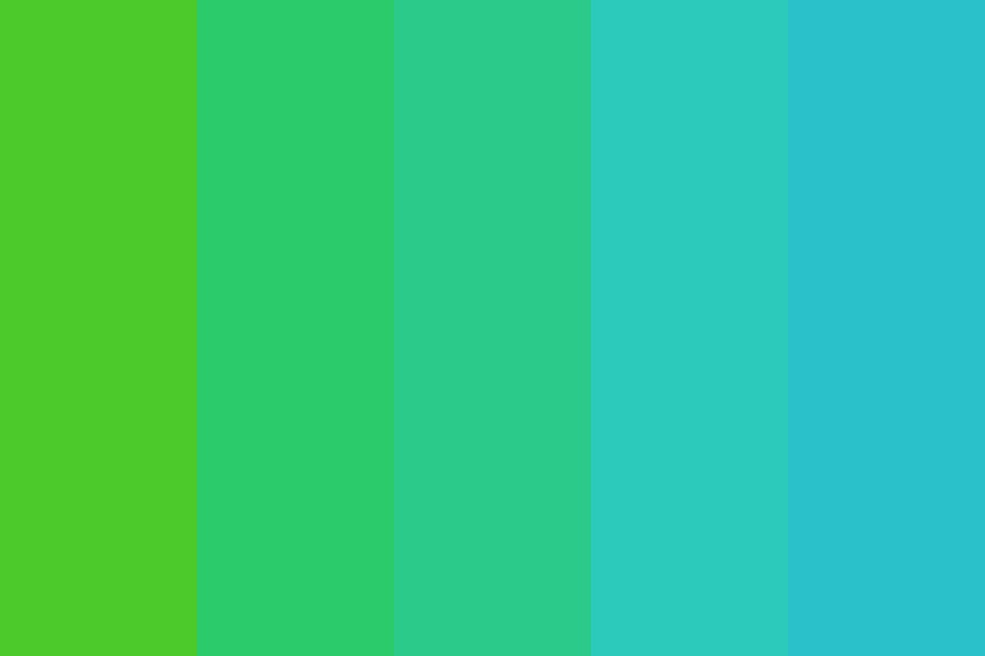 Green To Blue Fade Color Palette