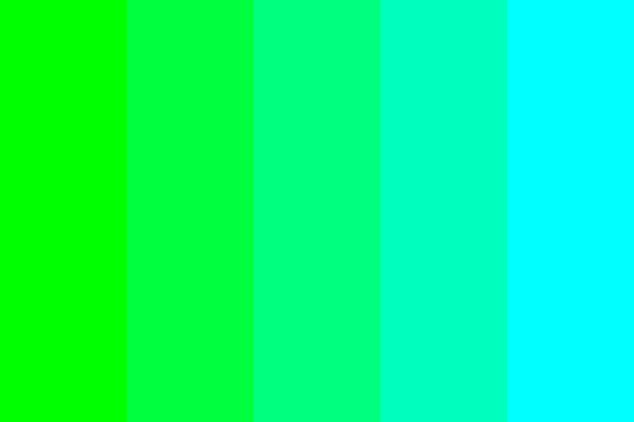 Green To Cyan Color Palette
