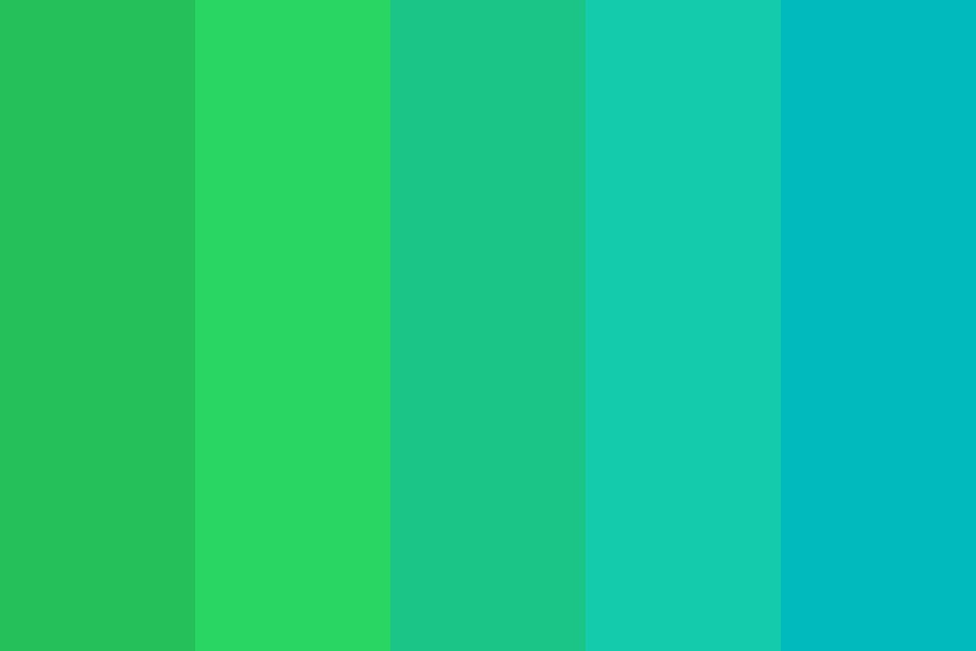 Green To Teal Color Palette