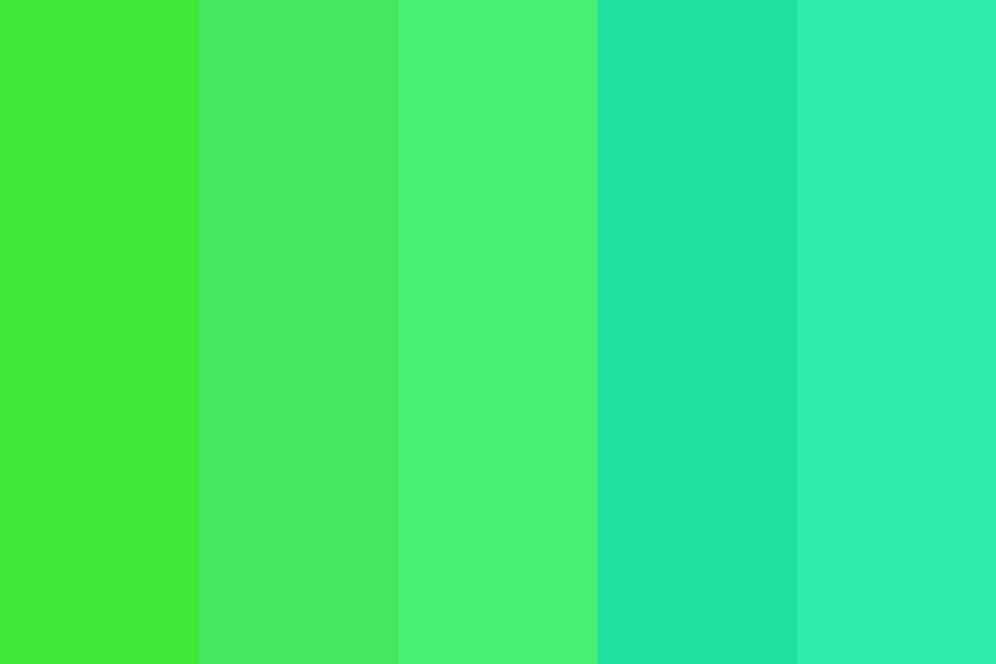 Green To Turquoise Color Palette