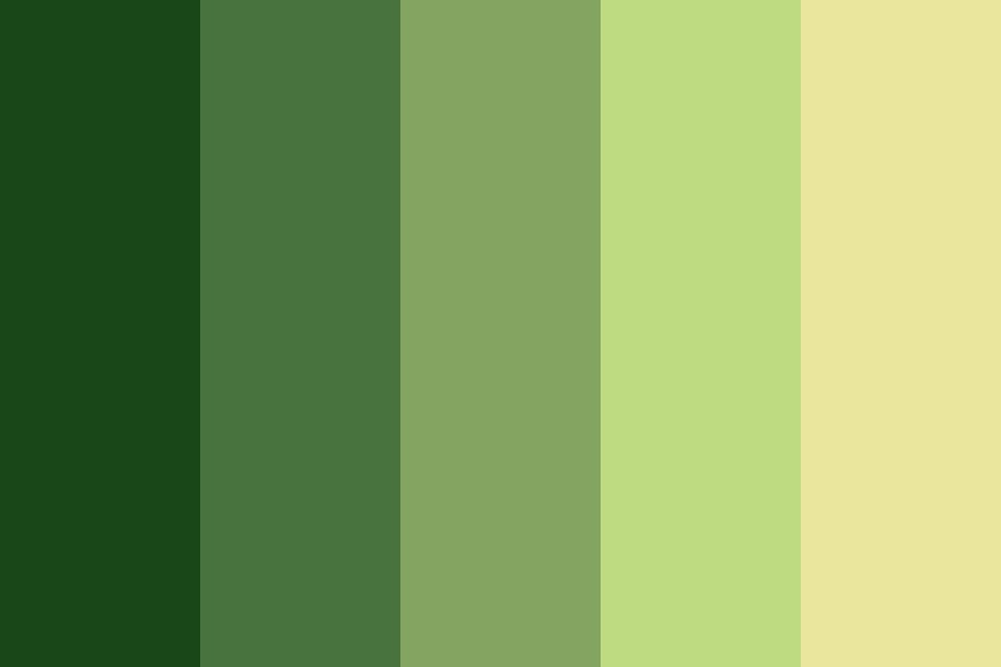 Green To Yellow Color Palette