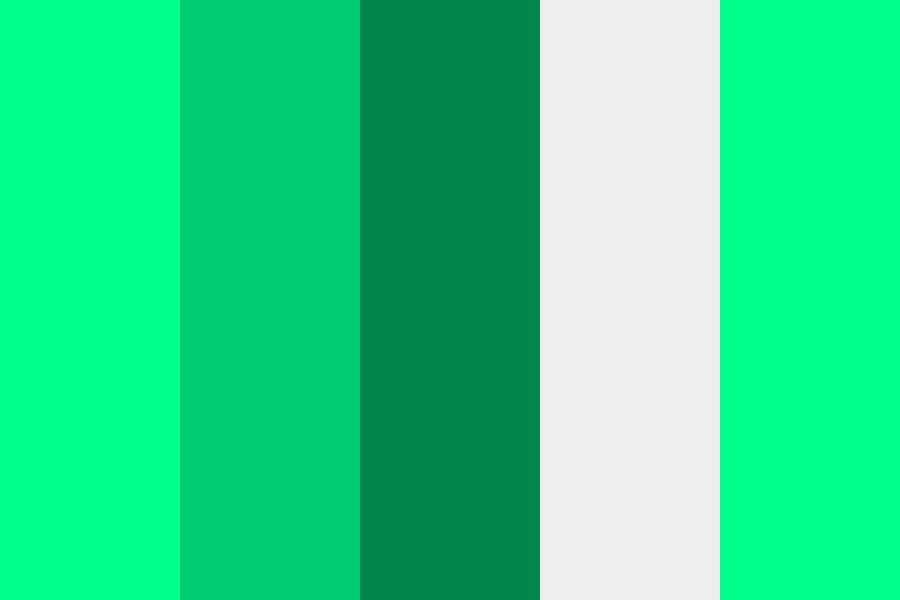Green Tree Color Palette