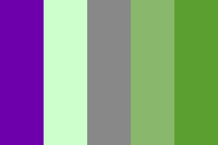 Green With A Tinge Of Purple Color Palette