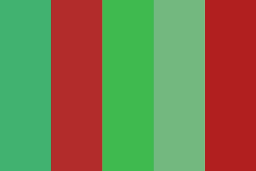 Green With The Some Red Color Palette
