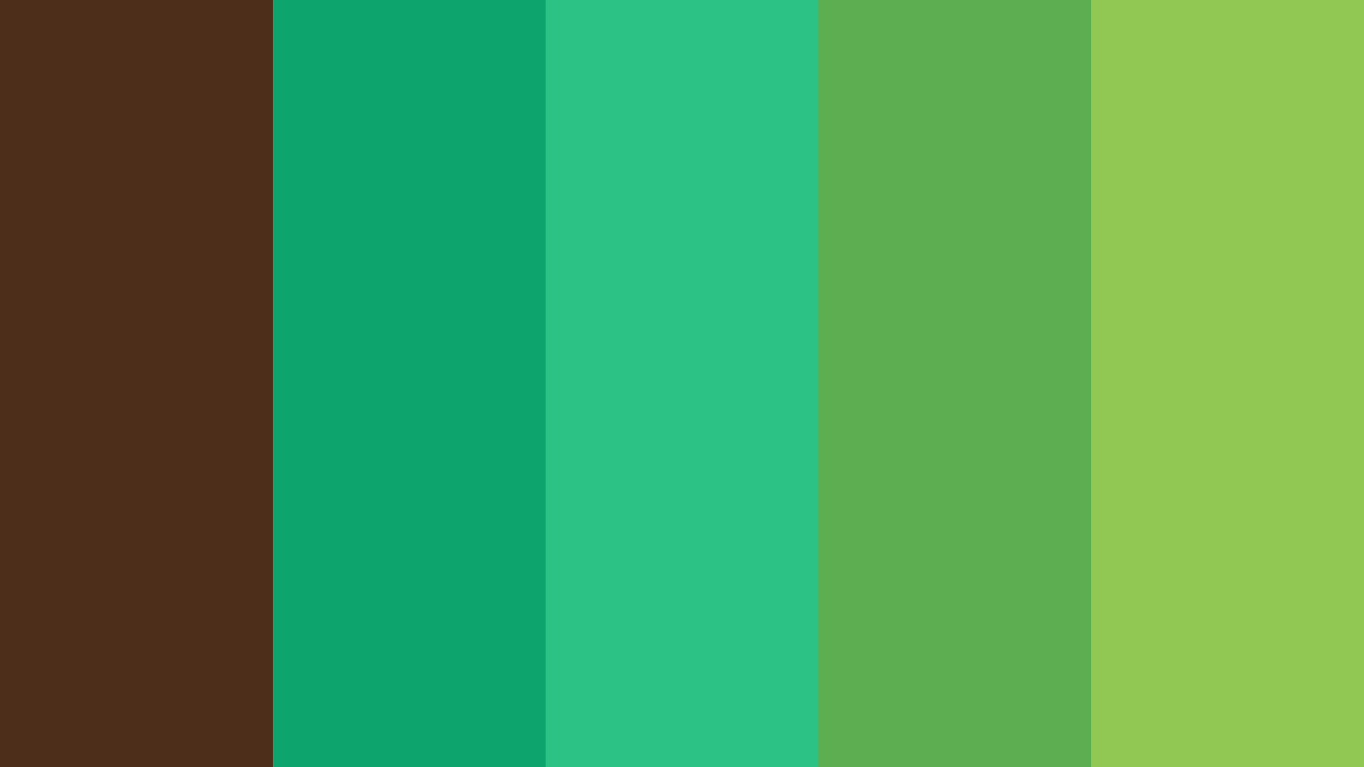 Greenery Illustration Color Palette