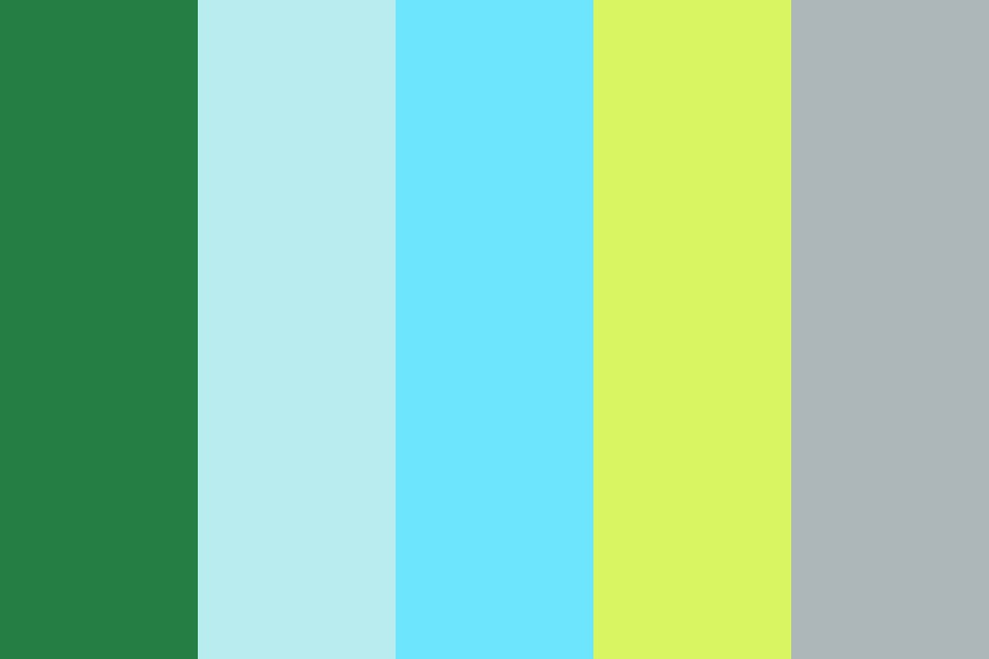 Greenery Meets Sky Color Palette