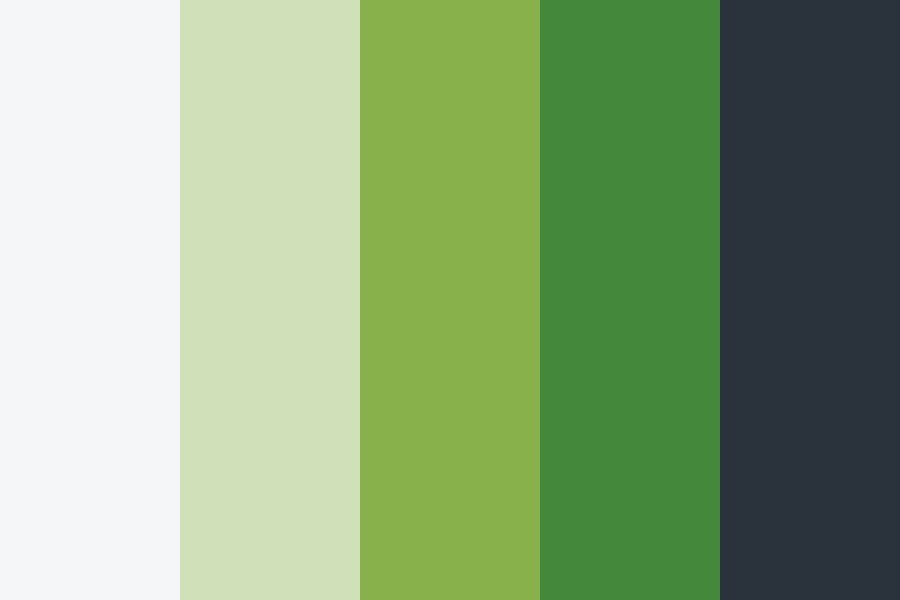 Greenery Page Color Palette