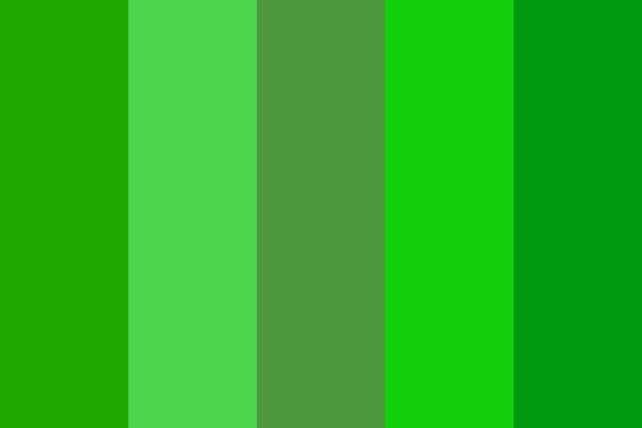 Greenie Color Palette