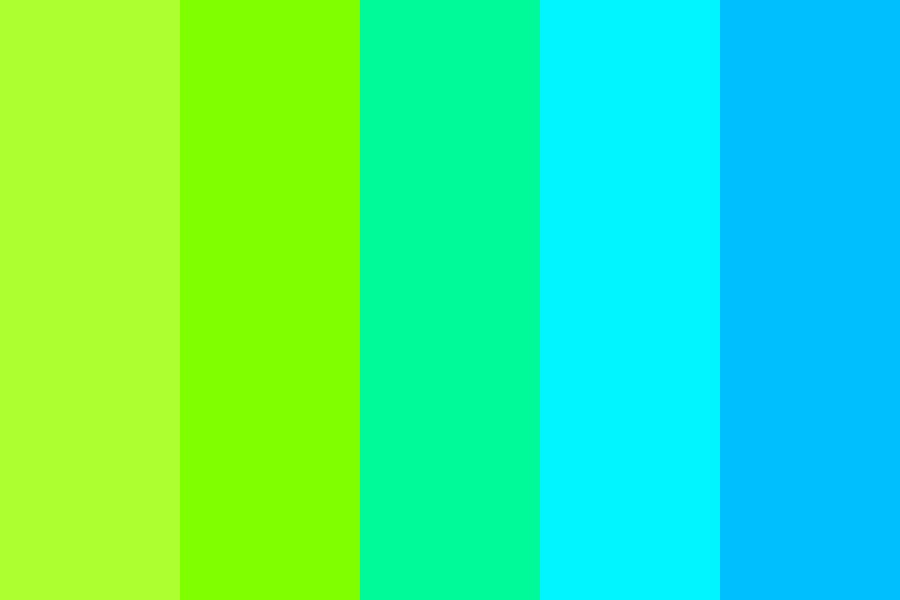 Greenish Blue Color Palette