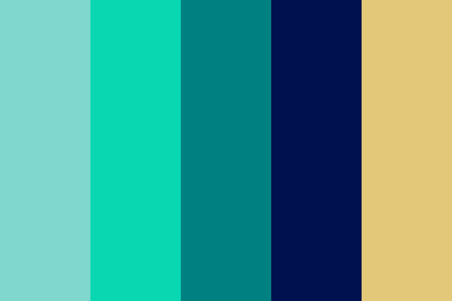 Greens And Blue Color Palette