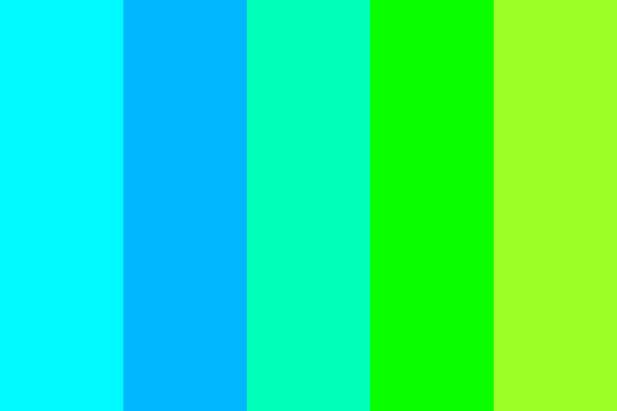 Greens And Blues Color Palette