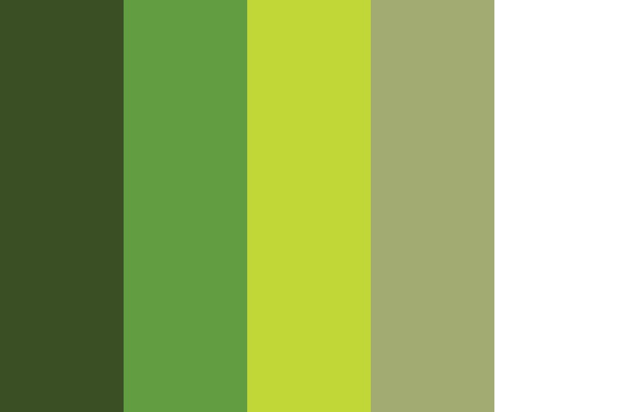 Greens From Original Invataion Color Palette