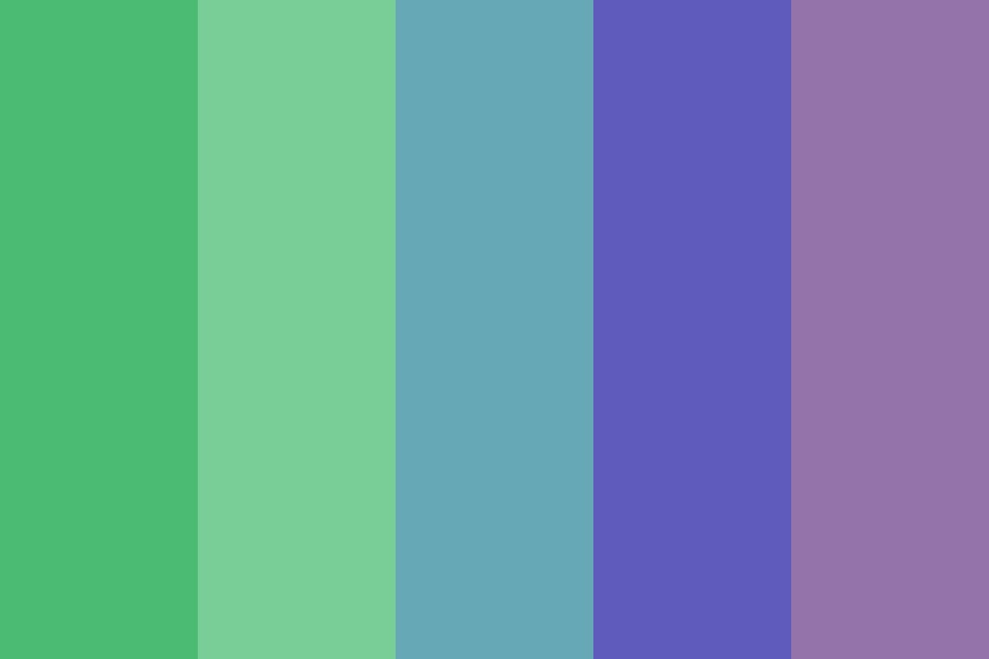 Greens Purples And Blues Color Palette