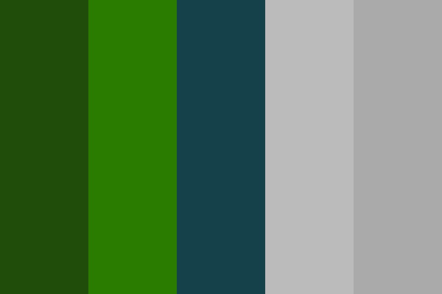Greens Teal Color Palette