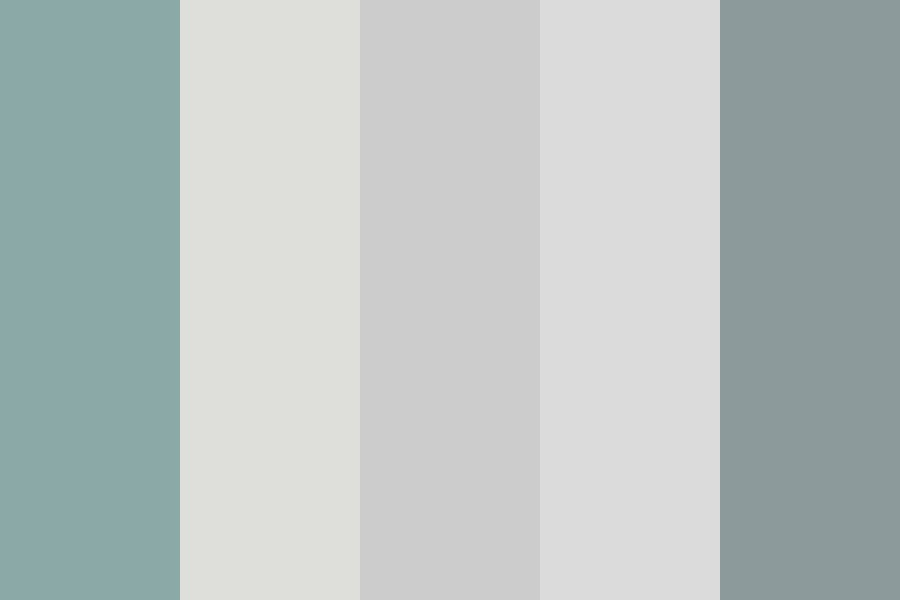 Grey With A Little Cyan And Magenta Color Palette