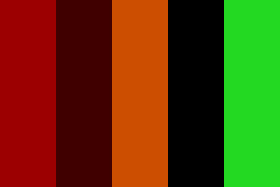 Halloween Colors Color Palette