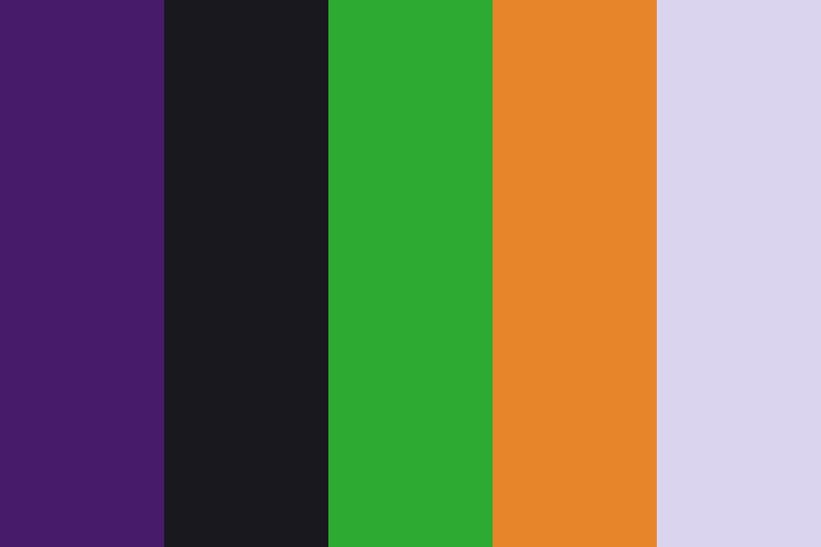 Halloween General Colors Color Palette