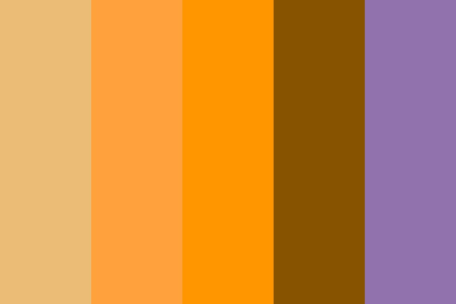 Halloween In Retrograde Color Palette