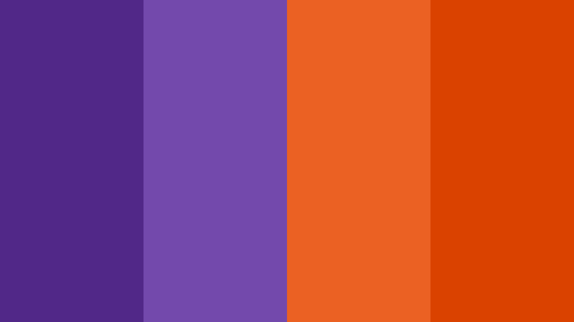 Halloween Purple And Orange Color Palette