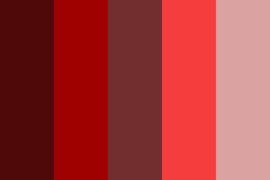Hands Coated In Deep Red Color Palette