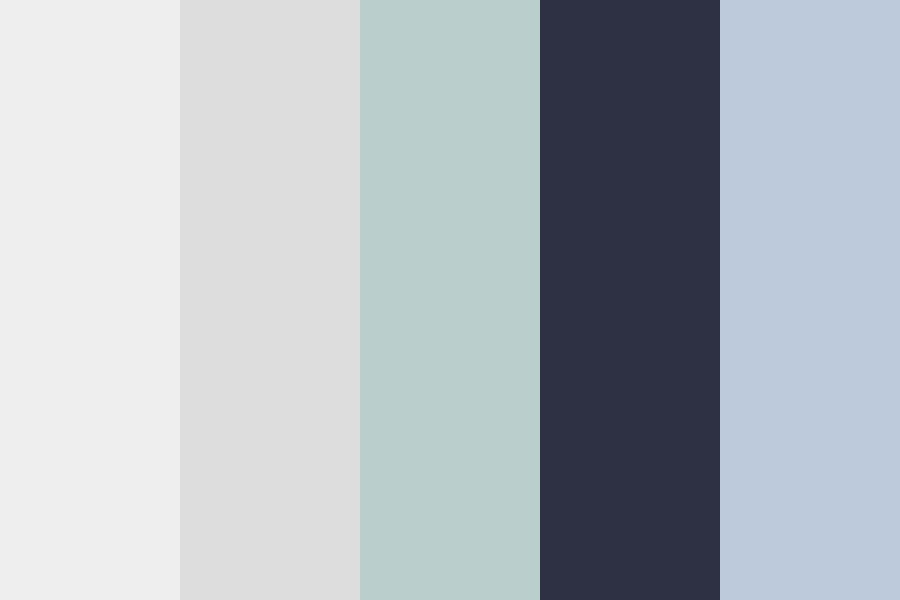 Hb Black blue Color Palette