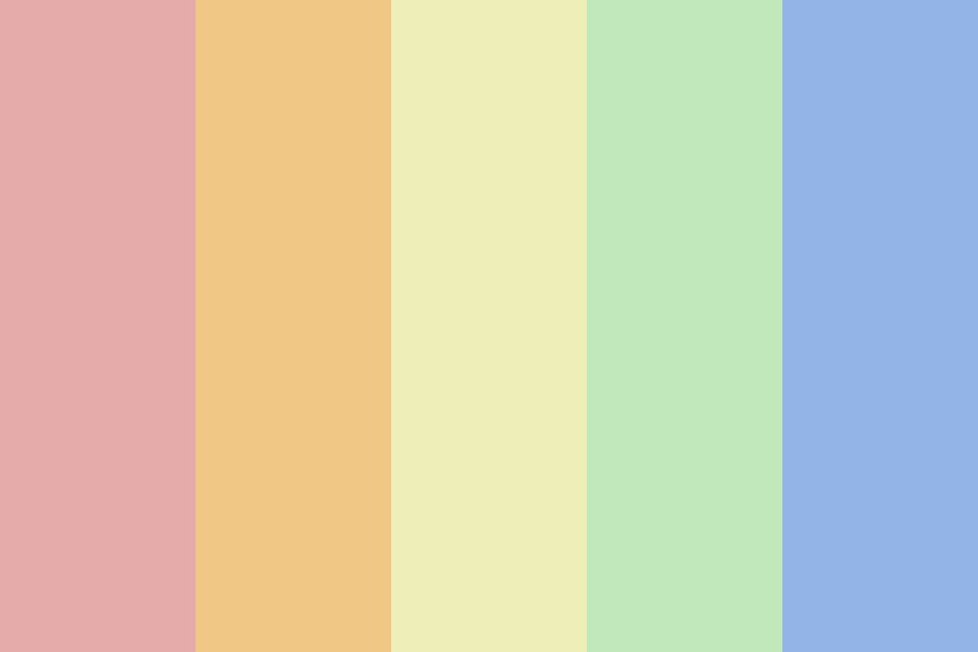 Hi Rainbowglow Color Palette