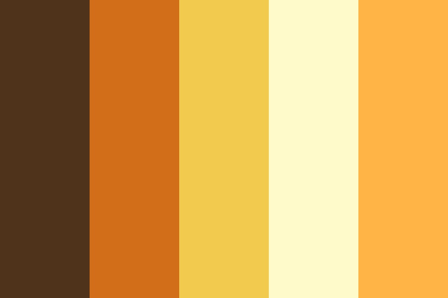 Honey And Oranges Color Palette