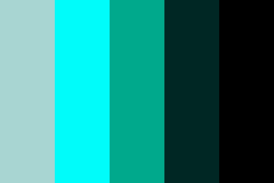 House Of Leaves   Teal Color Palette