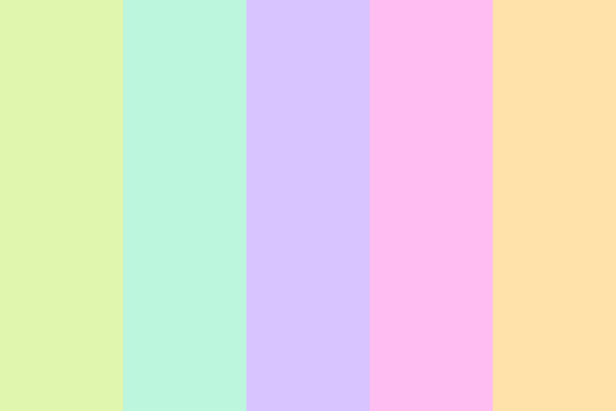 Ice Cream Drips Color Palette