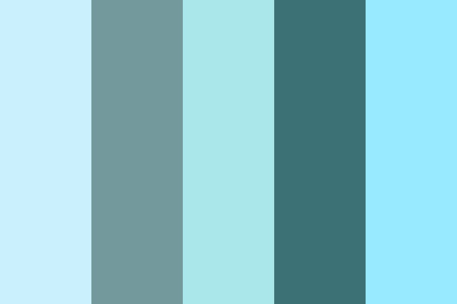 Im As Blue As My Life Color Palette